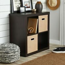 Better Homes & Garden Square 4-Cube Organizer, Espresso