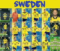 PANINI ADRENALYN XL UEFA EURO 2020 SWEDEN FULL 18 CARD TEAM SET - EUROS