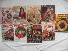 Lot of 9 Books Magazines CHRISTMAS CRAFTS Pine Cones ANGELS bazaar crochet embro