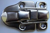 2 x NICKEL PLATED CASE or BOX CLIPS / CATCHES  60mm LONG (item No.602)