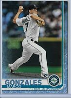 2019 Topps Series 2 Baseball Father's Day Blue Parallel Marco Gonzales 01/50 SP
