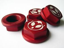 UberRC Enclosed Wheel Nuts x4 - Red For HPI KM Baja 5B 5T 001 2.0 Upgrade