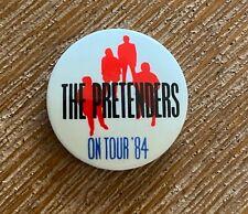 ORIGINAL1984 THE PRETENDERS On Tour '84 Badge / Pin