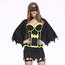 Sexy Batgirl costume fancy dress outfit superhero Batwoman clubwear Size M