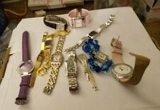 LOT OF 11 WOMAN'S WATCHES ROUND RECTANGLE SM / LRG WITH BANDS PRE OWNED  N-57