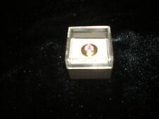"NIB-Brown Industries Inc.  Round Pink Stone ""Celebrate Life"" Tie Tack Lapel Pin"