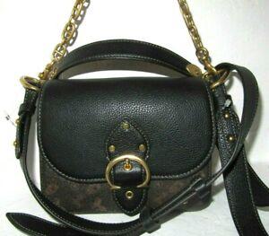 Coach Beat 18 4603 Black Crossbody Shoulder Bag Horse & Carriage Print NWT $450