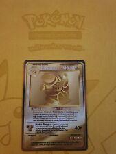 Pokemon Base 1st Blastoise Gold LUXURY CARD custom card Christmas gift