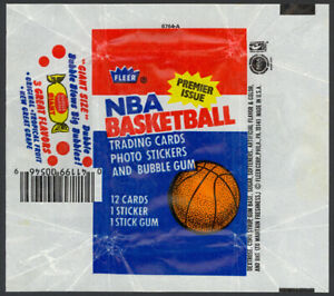1986-87 Fleer Basketball Wax Pack Wrapper (Dubble Bubble Variation) Jordan NM-MT