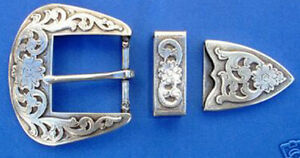 Western Cowboy/Cowgirl Rodeo Decor Engraved Antique Silver Buckle