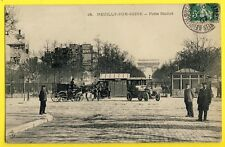 cpa 92 - NEUILLY sur SEINE Porte MAILLOT Animés Octroi AUTOMOBILE Taxi ATTELAGE