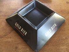 Rare Vintage Hornsea Pottery Gold Bier Premium Lager Advertising Ceramic Ashtray