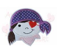 Piratin pirat Aufbügler Aufnäher Bügelbild Patch zum aufbügeln mädchen rosa
