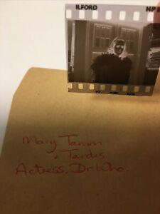 Mary Tamm & Tardis. Actress. Dr Who. 1978 1x1. Vintage Original Negative .