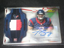 TOM SAVAGE TEXANS ROOKIE CERTIFIED AUTOGRAPHED SIGNED FOOTBALL JERSEY CARD