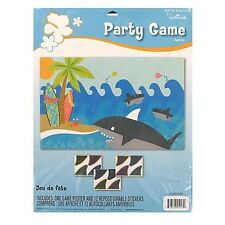 Stick The Fin On The Shark Party Game  Birthday / Luau / Beach / Fish theme