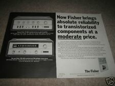 Fisher Tfm-200,Tx-200 Amp,Tuner Ad from 1965,2 pgs