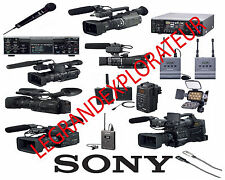 Sony DSR PD150 170 190 X10 Z1U Z5U Z7U EX1 EX3 FX1 Repair Service Manual s DVD