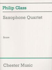 Philip Glass Saxophone Quartet Score Learn Play Sax Classical Sheet Music Book