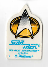 STAR TREK The NEXT GENERATION TNG Pinball Promo DECAL Sticker LOGO & BADGE 1993