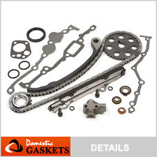 Fit 89-97 Nissan 240SX D21 Pickup Stanza Axxess 2.4L SOHC Timing Chain Kit KA24E