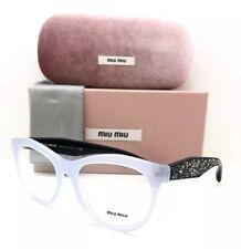 New Miu Miu Eyeglasses VMU 08N TKY-101 Grey Black 54•17•145 With Case