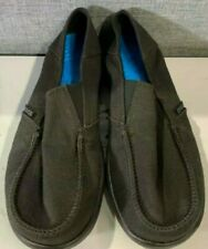 Crocs kids shoes New size  J 2 black canvas uppers rubber sole