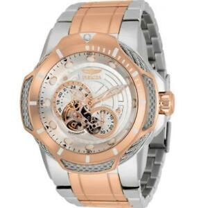 Invicta Bolt 31176 Men's Round Analog Automatic Skeleton Two-Tone Watch