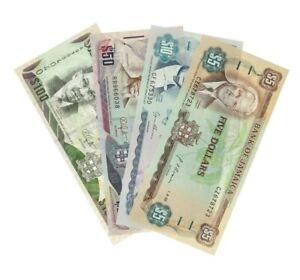 Jamaica - 5 / 10 / 50 / 100 Dollars Banknotes - 1992/1994/2010 - UNC