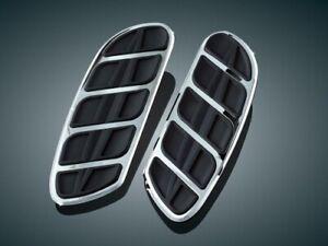 Kuryakyn Kinetic Floorboard Inserts Sweptwing Chrome #4396 Harley Davidson