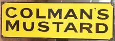 COLMANS MUSTARD ENAMEL SIGN (MADE TO ORDER) #02