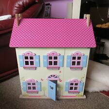 Wooden Toy Dollhouse Unfurnished