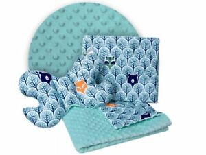 Baby Bedding Set 3in1 For Cradles Baby Strollers Blanket Pillow Dreams Forest