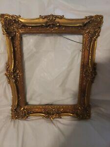 Vintage Ornate chalk or resin frame Gesso Gilt Gold 11x14 pretty