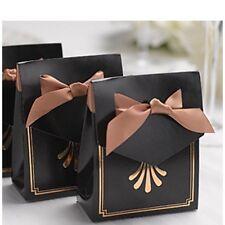Art Deco Tent Favor Boxes - Black & Gold (25/pkg) *NEW*