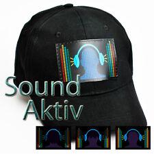 LED PARTY BASE CAP MÜTZE DJ DISCO Soundsensitve Partycap Basecap Equalizer #C01