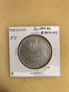 Mexico- 1894 GoRS Silver 8 Reales