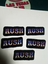 RUSH LOT OF 5 VINTAGE PATCHES / CHECK OUT THE PRICE