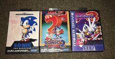 Sonic the hedgehog 1,2 & 3 mega drive games