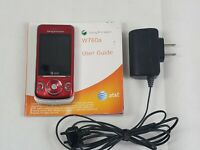 Sony Ericsson - Walkman W760A AT&T Cellular Phone Basic Slider Cell Red tested