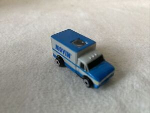 MICRO MACHINES Private Camion Ford Box Van Movin Gris et Bleu
