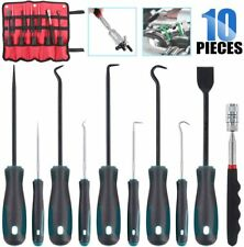 Glarks 10 In 1 Heavy Duty Hook and Pick Set, 9Pcs Precision Scraper, Hook and