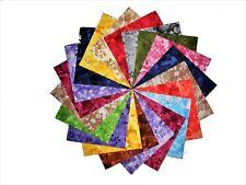 "30 5"" Quilting Fabric Squares Beautiful Faded Florals Tonals !!!!!"