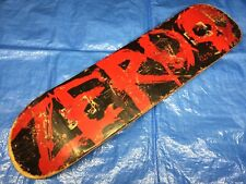 "Vintage 1990s Zero Blood Skull Skateboard Deck 7.63"" Black Red Original Grip"