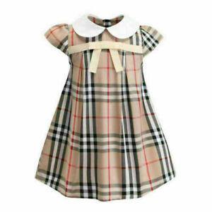 Toddler Baby Girls Party Tartan Tutu Dress Princess Bowknot Swing Tulle Sundress