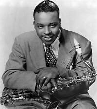 OLD MUSIC PHOTO Jazz Musician Gene Ammons Poses With His Saxophone 1