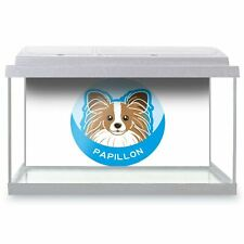 Fish Tank Background 90x45cm - Papillon Cartoon Dog Puppy Face  #5991