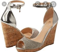 BNIB Moda In Pelle Wilmia Embellished Peep Toe Wedged Sandals Size 6 / 39