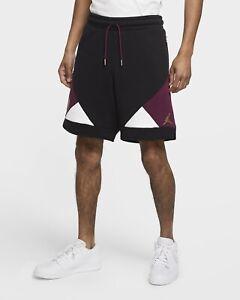 Nike Air Jordan Paris Saint German PSG Fleece Shorts Burgundy CK9758-010 Size M