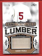 New listing 2020 Leaf Lumber Kings Albert Pujols GUL-01 17/25